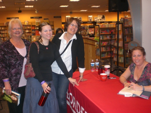 Carolyn, Liz and Amy with Jodi Picoult